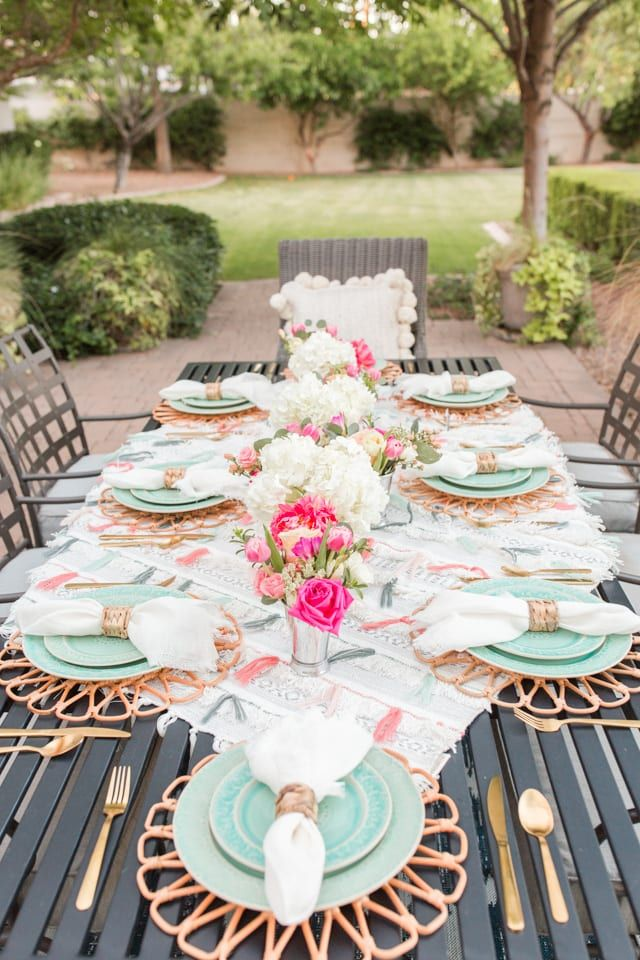 Anthropologie-Inspired Outdoor Dinner Party - Home With Holly