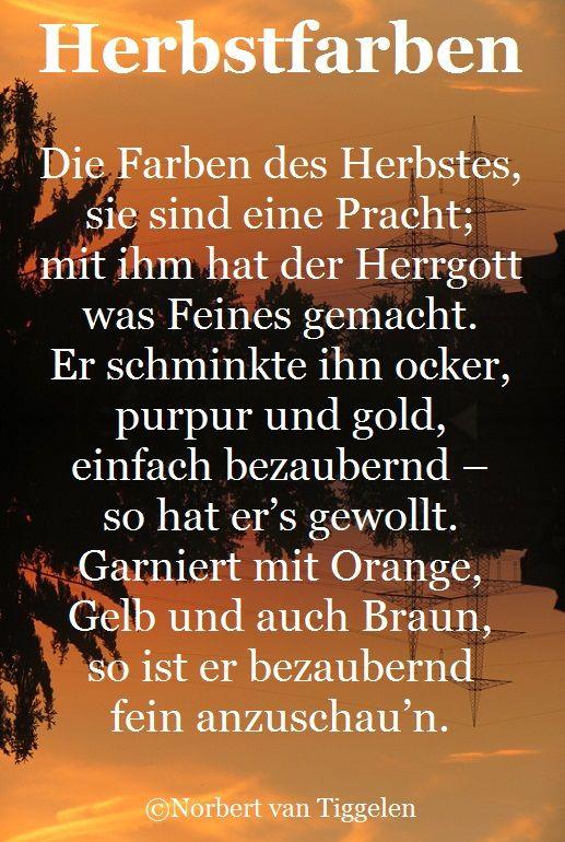Herbst, Van Tiggelen, Gedichte, Menschen, Leben, Weisheit