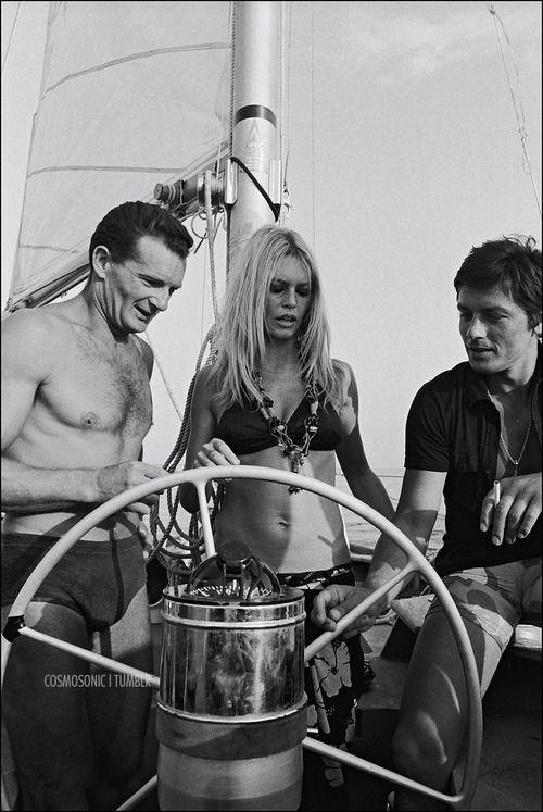 Eric Tabarly Avec Brigitte Bardot Et Alain Delon Brigitte Bardot