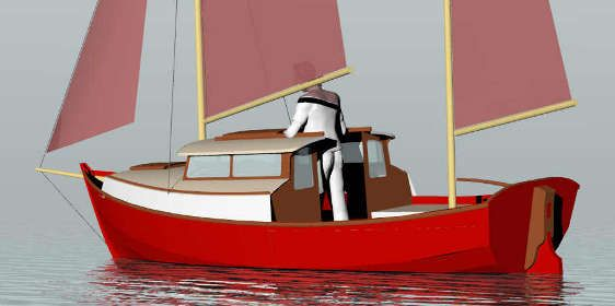 Pogy 17' Motorsailer, minimum coastal cruiser