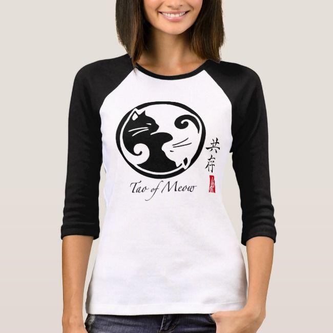 Tao of Meow Womens Raglan TShirt