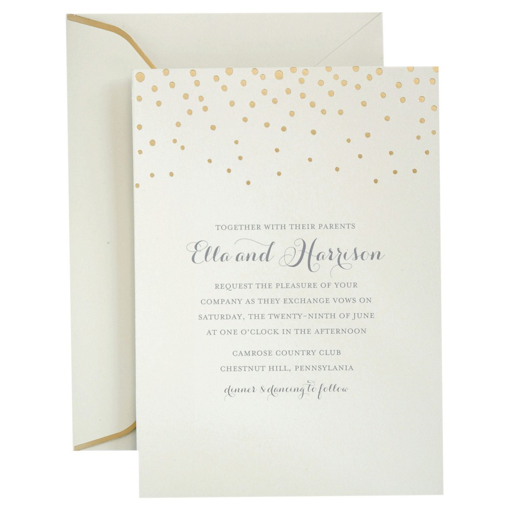 Gartner studios gold foil dots invitation pack 25 ct off white gartner studios gold foil dots invitation pack 25 ct stopboris Gallery