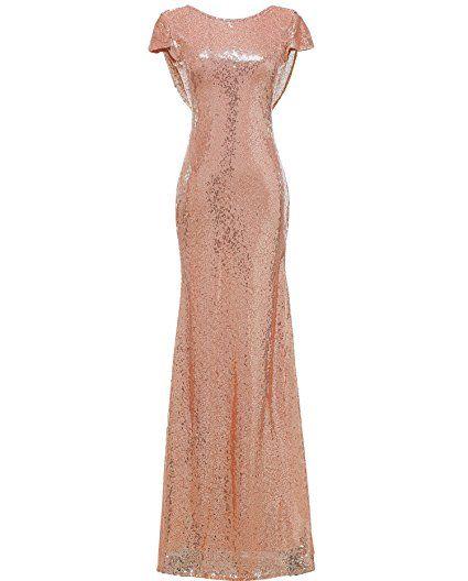 Solovedress Women\'s Mermaid Sequined Long Evening Dress Formal Prom ...