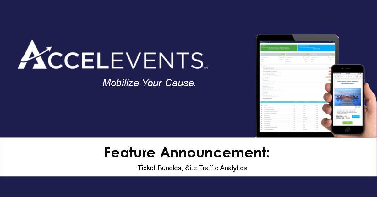 Feature announcement ticket bundles site analytics
