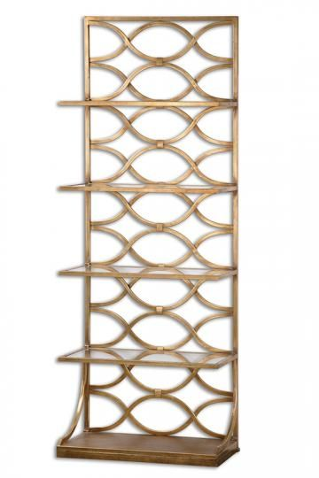 Maria Bookshelf - Glass Bookcase - $699