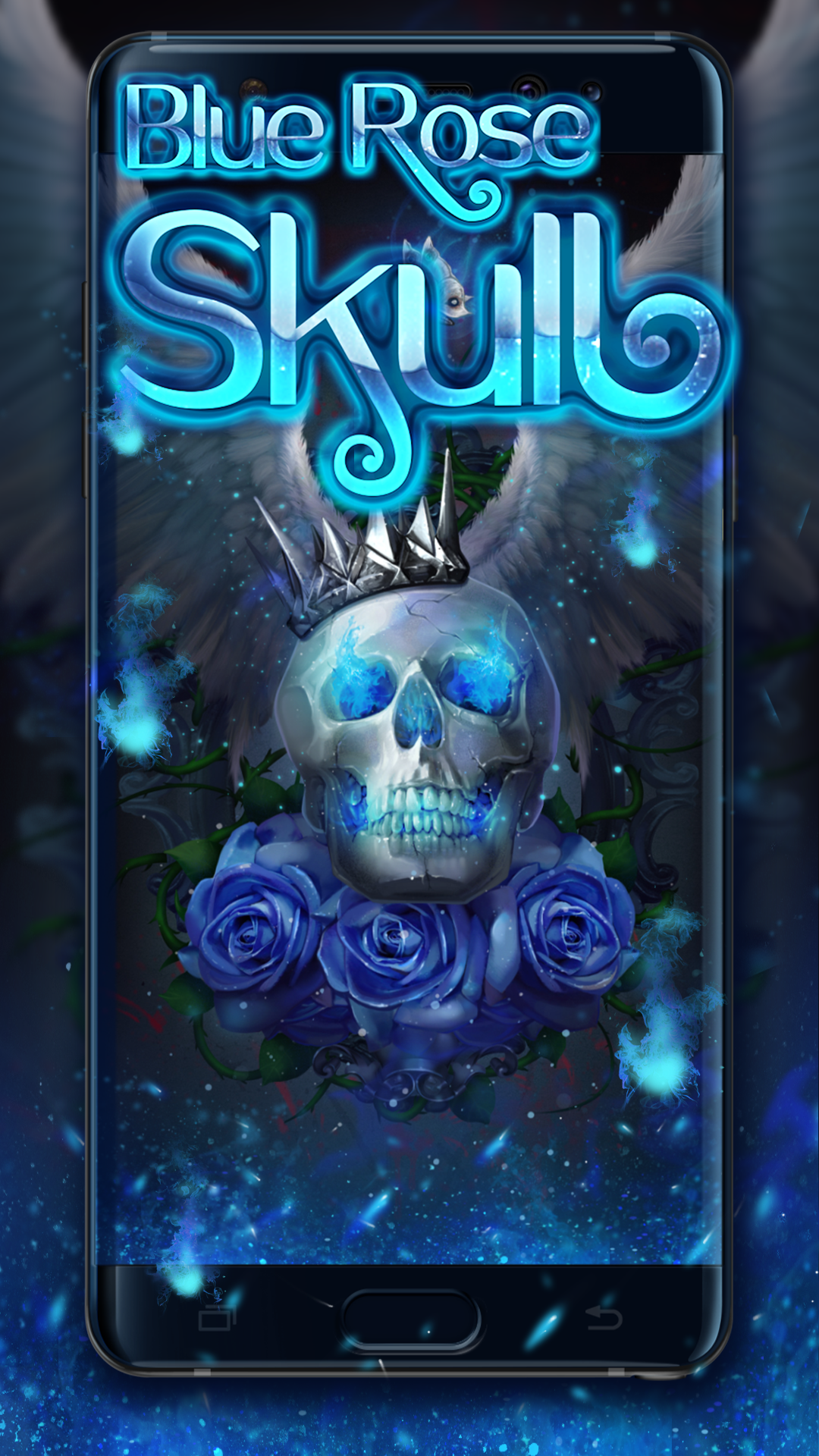 Blue Rose Skull LIVE WALLPAPER (With images) Skull