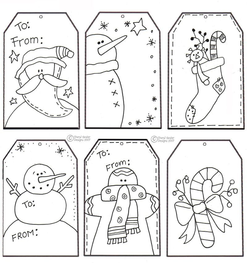 Tags that the kids can color! Christ-Mas Pinterest Kids - christmas bookmark templates