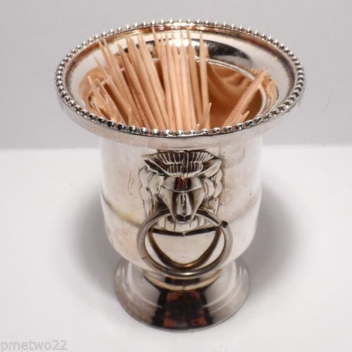 Cute silver-plated toothpick holder. A must-have for silver-plate vintage & Cute silver-plated toothpick holder. A must-have for silver-plate ...