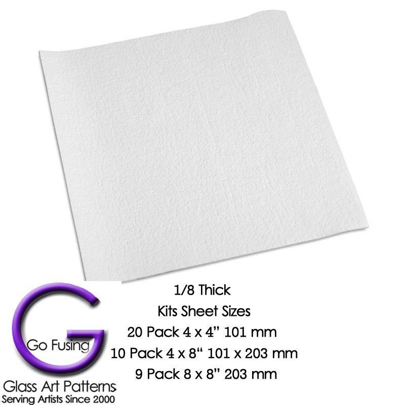 Fusing Supplies Kiln Shelf Fiber Paper 1 8 Thick Shelf Paper Fire Glass Fiber