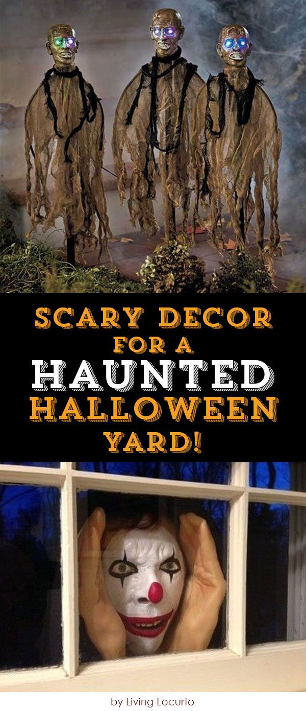 Scary Decor for a Haunted Halloween Yard! Creepy halloween - cool halloween decoration ideas