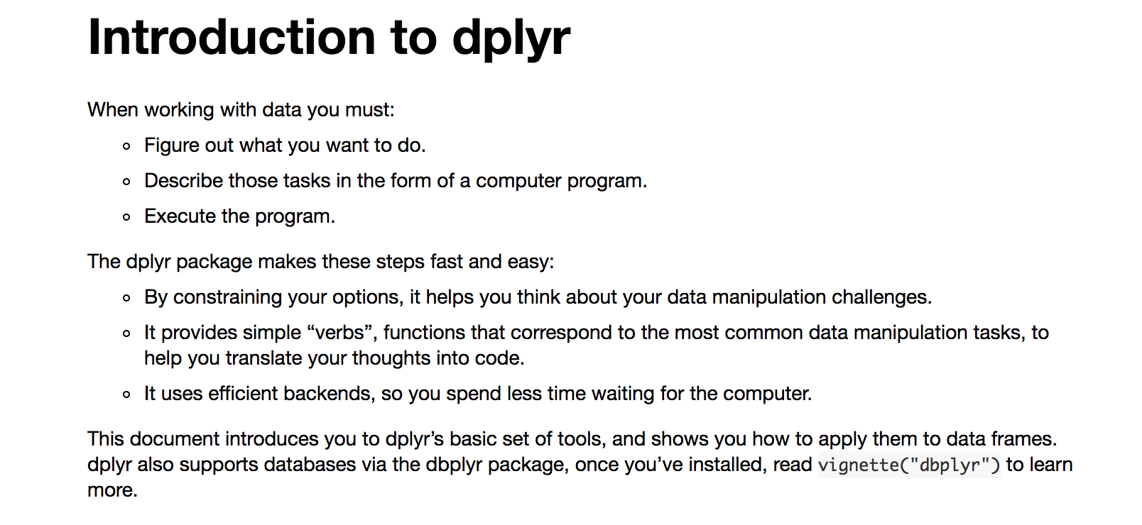 R package: dplyr (good for data frames) | R tips | Pinterest | Tips ...