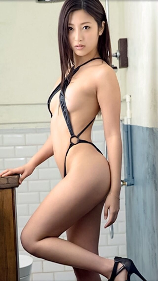 Japanese chicks in slingshot bikini