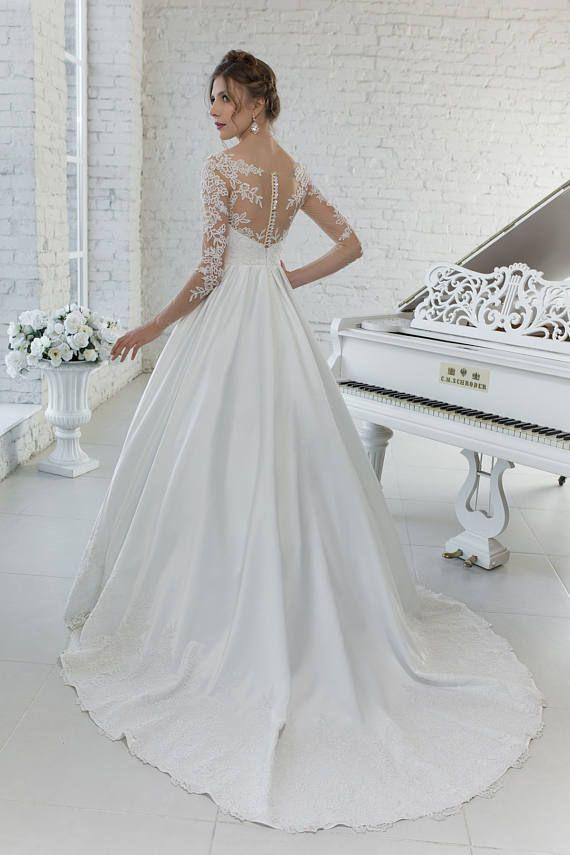 Shaila Brautkleid Farbe in yvory und puder Silhouette A-Linie ...