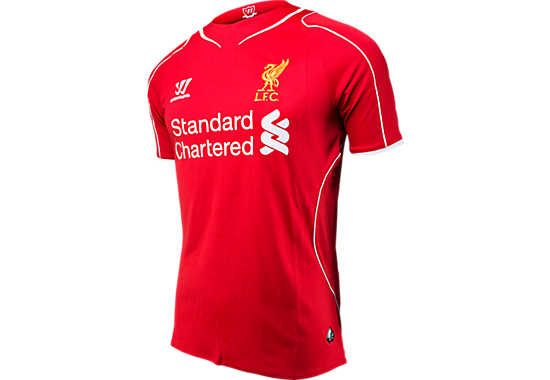 436078bedd3 Warrior Liverpool Home Jersey 2014-2015...Available at SoccerPro ...
