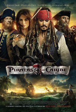 Poster de Piratas del Caribe 4: En Mareas Misteriosas (2011) DVDRip Latino
