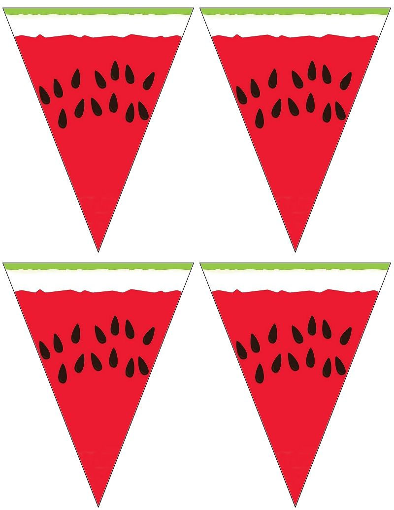 Small Printable Watermelon Banner Say It With Banners Pinterest Banners