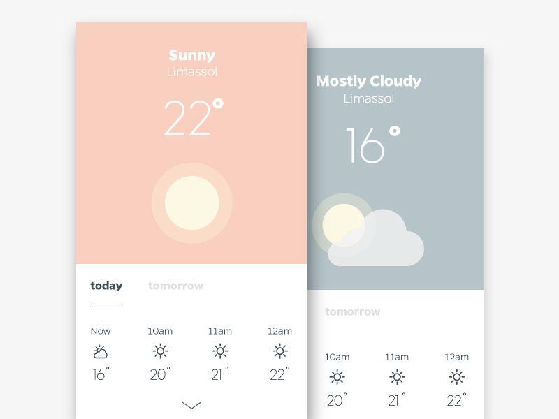 Daily UI - Day 37 - Weather | + u i | App design, App ui