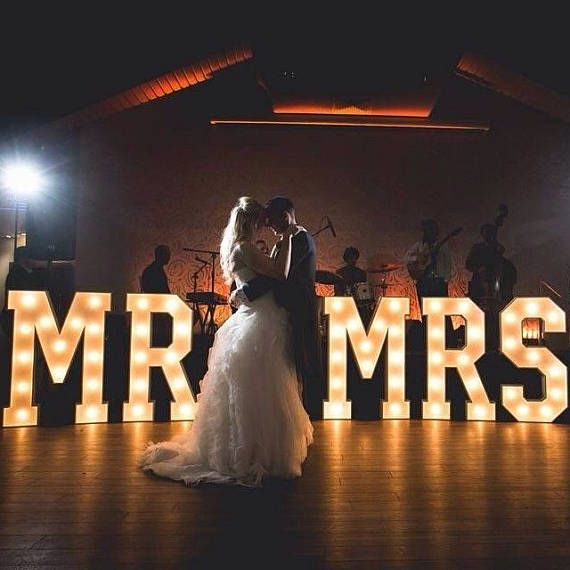 35 large marquee lights mr mrs letter lights decor
