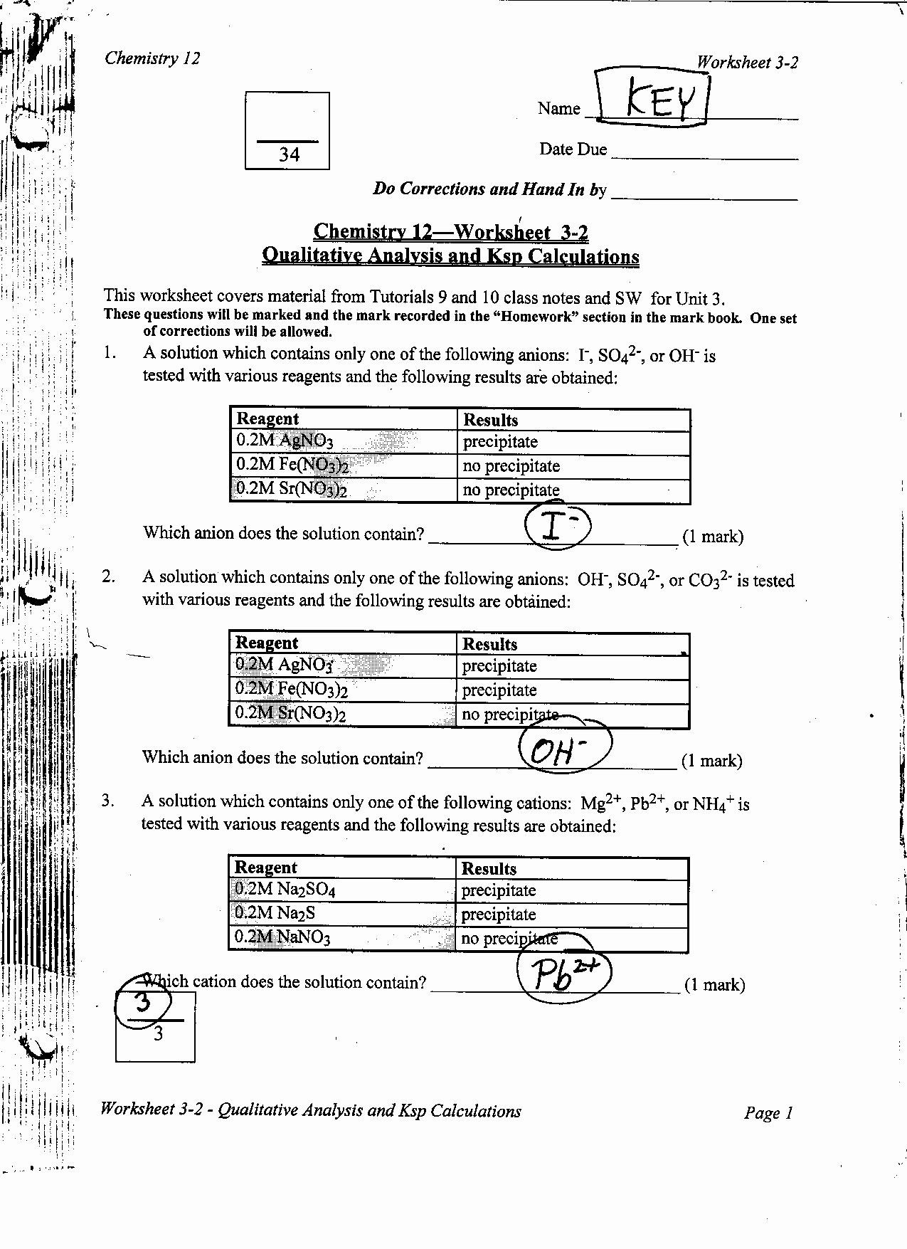 Mixtures Worksheet Answer Key Beautiful Chemistry 12 In