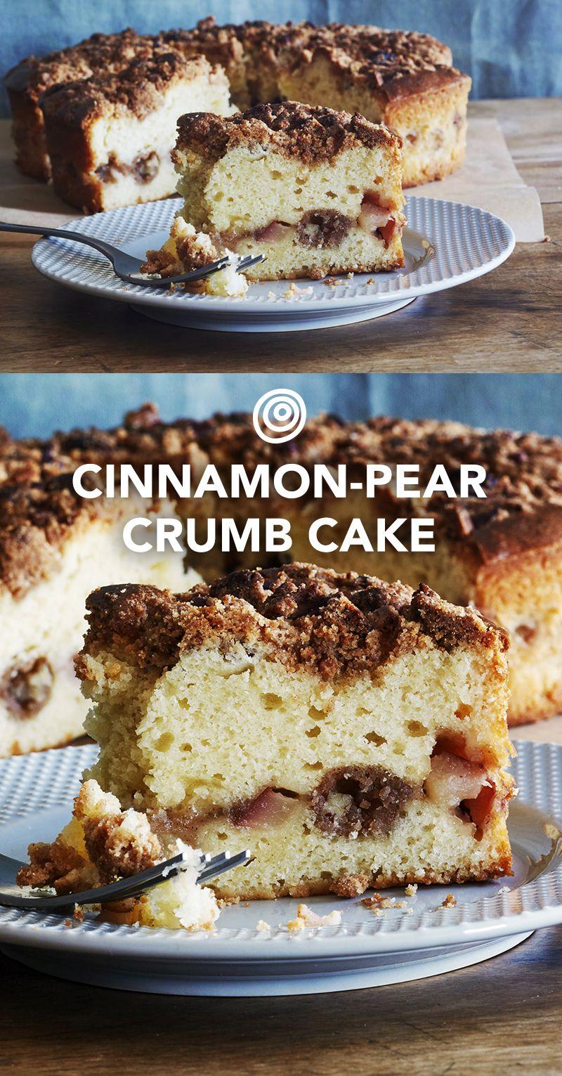 Pear and Cinnamon Crumb Cake Recipe Pear coffee cake