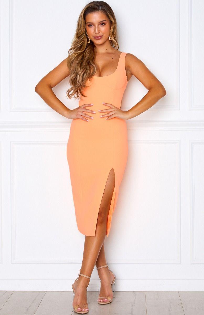 bliss pop midi dress peach | peach midi dress, dresses for