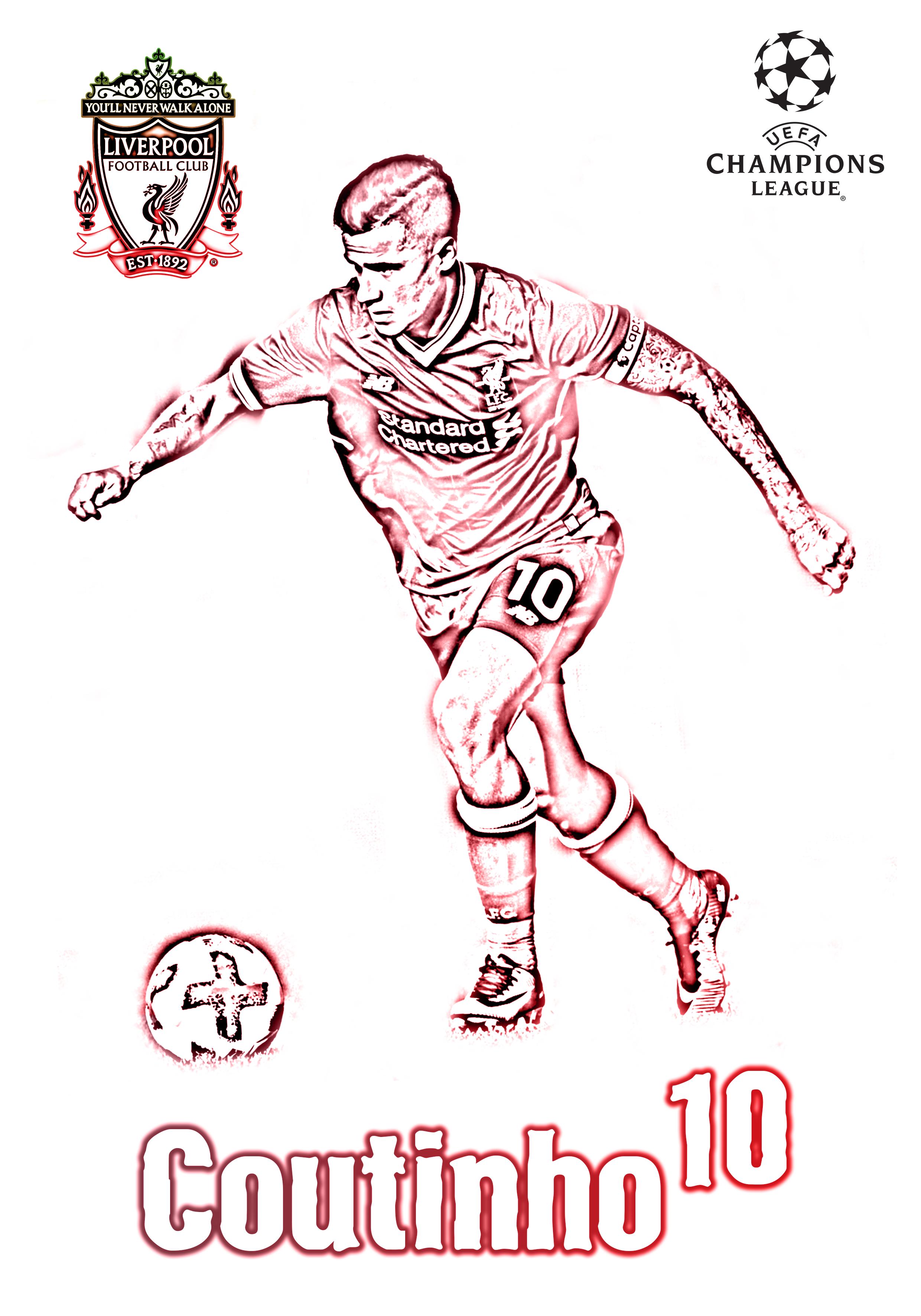 Coutinho Liverpool Champions League 2017 18 Bob Calligaris Champions League Liverpool Champions League Soccer Kits