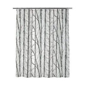 Blue White Grey Shower Curtain