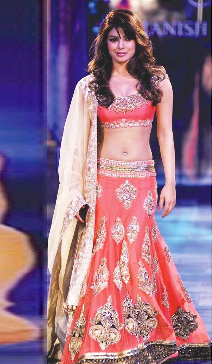 #BollywoodReplicas - Peach Embroidered Lehenga Choli Worn By Priyanka Chopra (Bollywood Replica) Costs Rs. 10,285. #Apparels. BUY it here: http://www.artisangilt.com/apparels-bags/women-apparels/lehenga-choli-sets/peach-embroidered-lehenga-choli-worn-by-priyanka-chopra-bollywood-replica.html?ref=pin