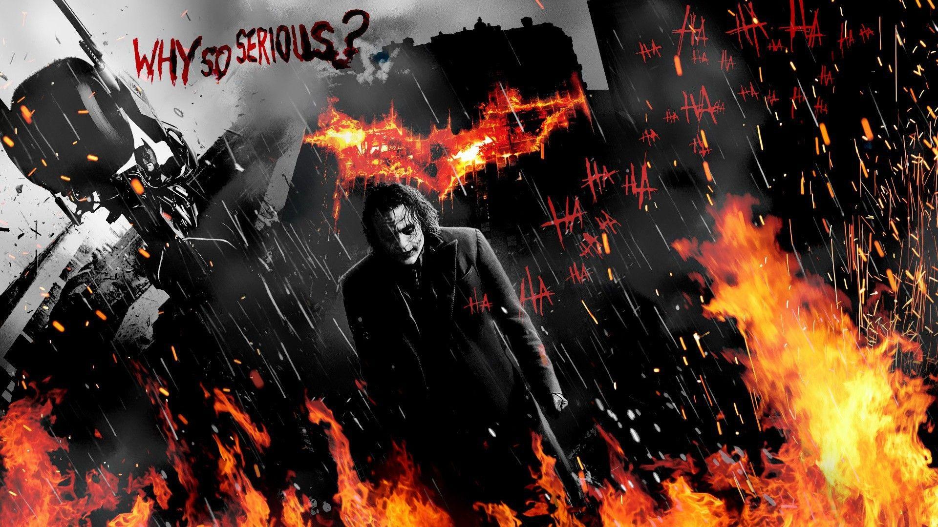 Joker Batman Dark Knight Why So Serious Wallpaper Joker Wallpapers Batman Joker Wallpaper Batman Joker