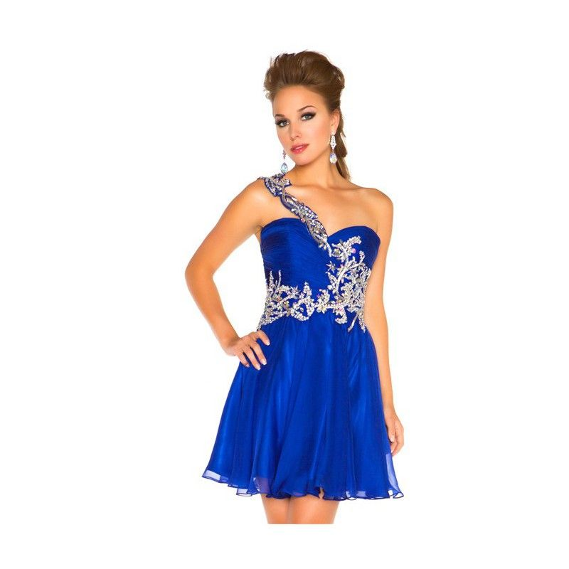 e6cb62e0d5a Wholesale Homecoming Dresses - Buy 2014 Hot Selling Homecoming Dresses Sexy  One Shoulder Applique Ruffle Chiffon A Line Red Royal Blue White.