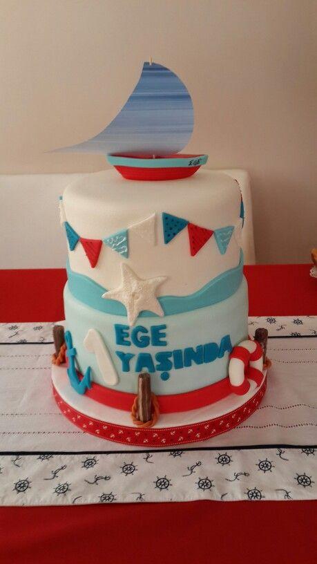 Nautical Themed Birthday Cake Sydney S First Birthday Pinterest