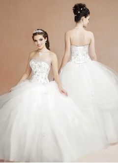 15fa4536eca Ball-Gown Strapless Sweetheart Floor-Length Satin Tulle Wedding Dress With  Ruffle Lace Beading Sequins