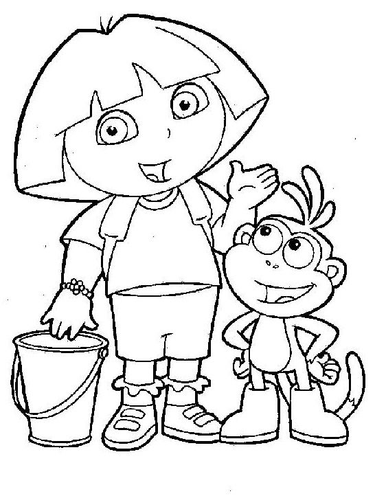 25 wonderful dora the explorer coloring pages this page contains dora birthday princess mermaid and christmas coloring pages to print - Dora The Explorer Pictures To Color And Print