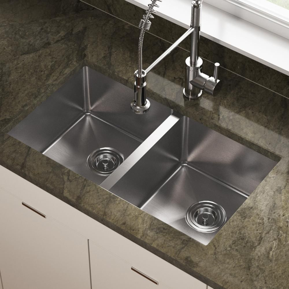 Ss Kitchen Sinks Countertops 3120d Double Equal Stainless Steel Sink Pinterest