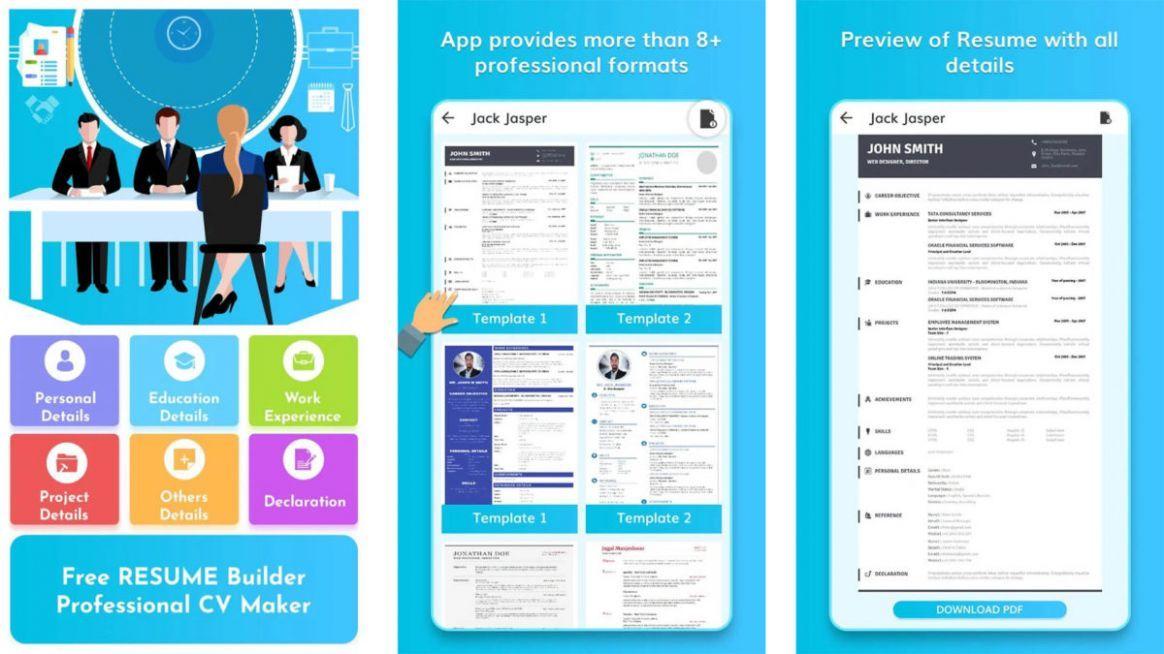9 Resume Template App in 2020 Resume template, Free