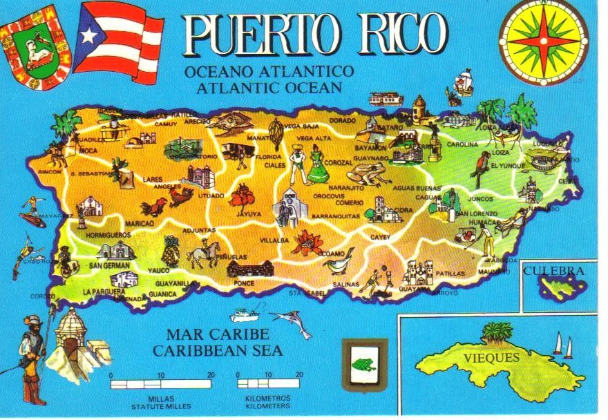 the island of puerto rico map Are Puerto Ricans Americans Puerto Rico Map Puerto Rico Island the island of puerto rico map