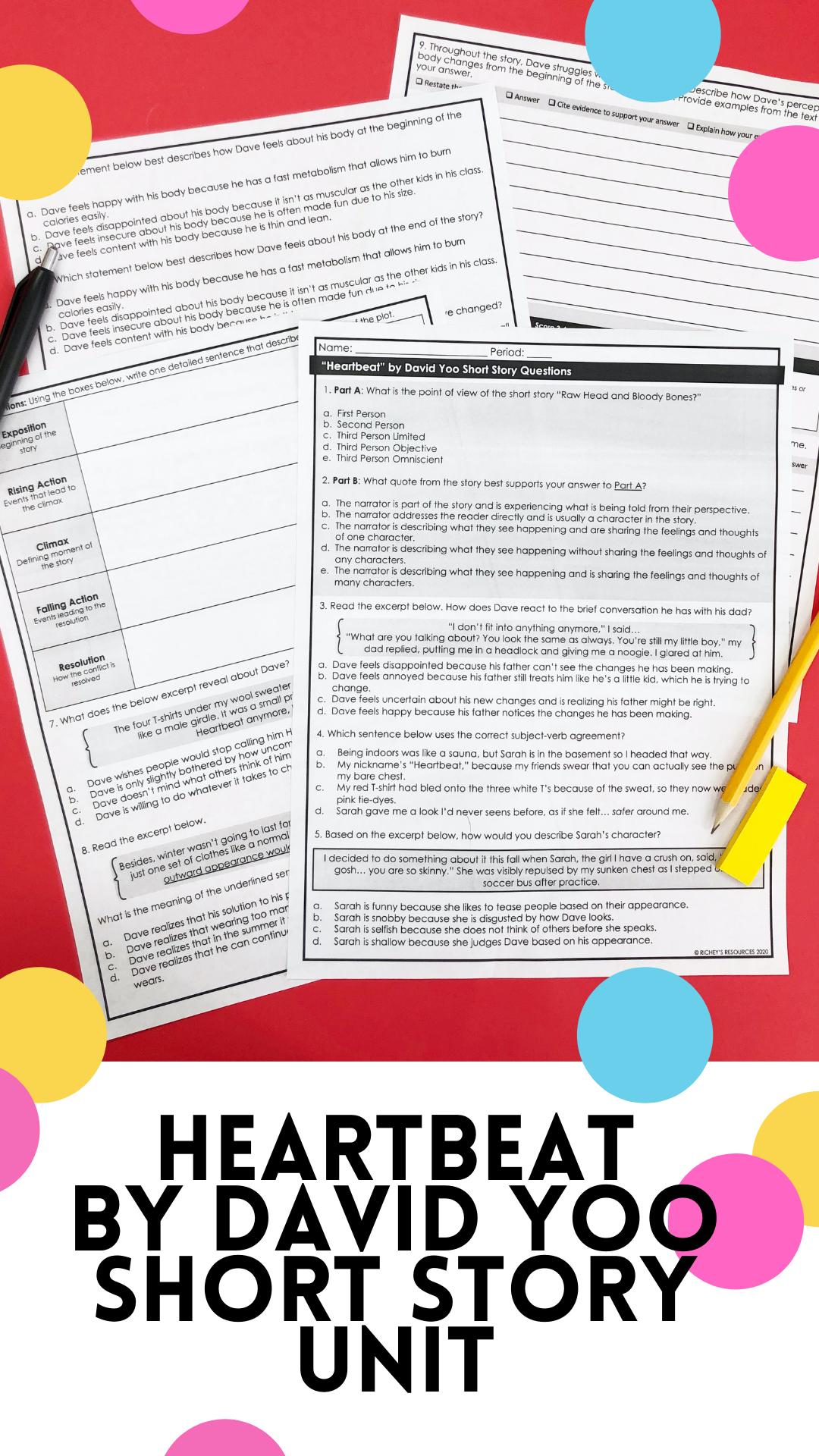Hmh 7 Heartbeat Short Story Writing Response Informative Essay Short Story Unit [ 1920 x 1080 Pixel ]