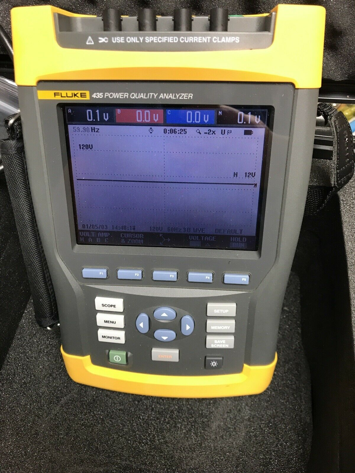 Fluke Power Analyzer Power Graphing Calculator Landline Phone