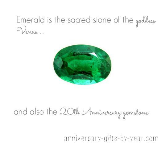 20th Anniversary Gemstone Is Emerald The Sacred Stone Of Dess Venus Find Out