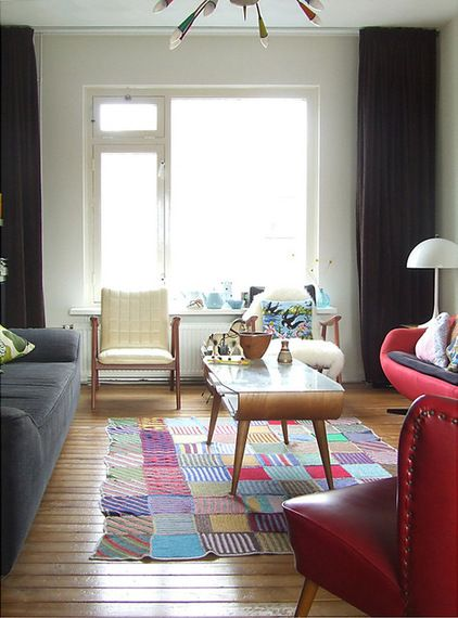 midcentury living room by Ninainvorm via Houzz Area Rugs