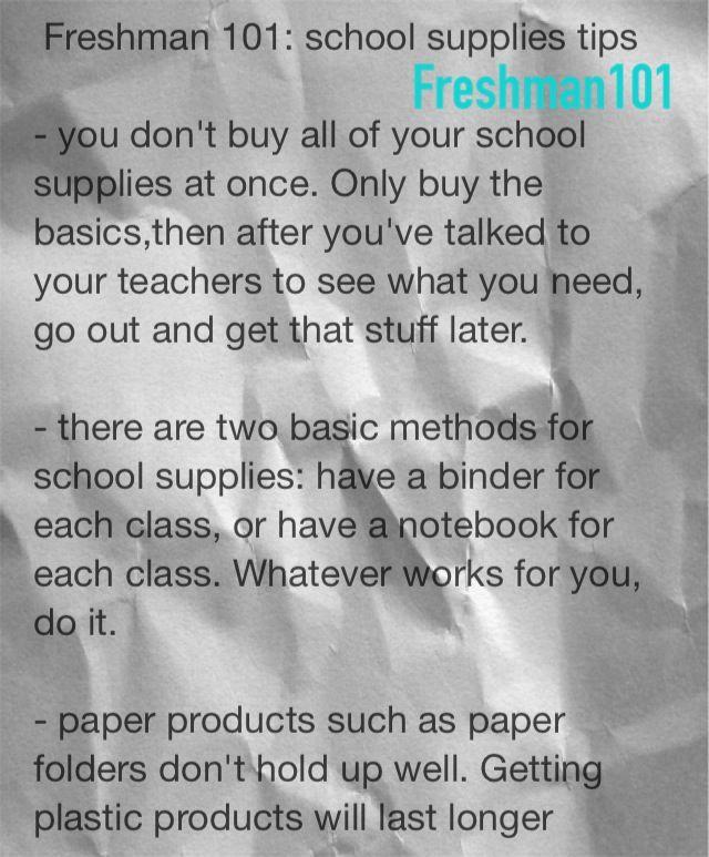 high school freshman life hacks