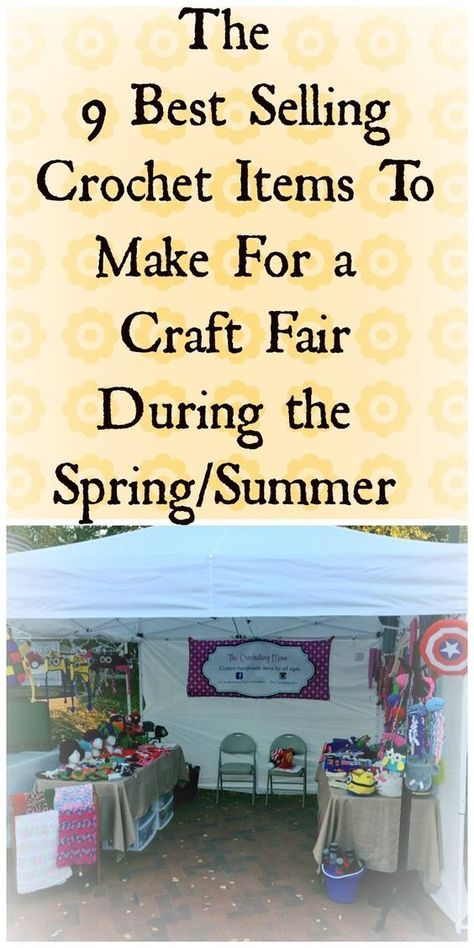 the best crochet items to sell at a spring or summer craft fair