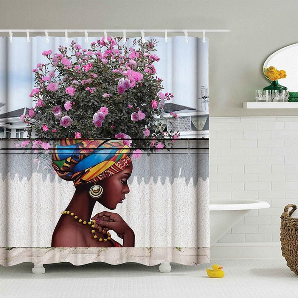 Floral Fairy Girl Shower Curtain In 2020 Traditional Shower