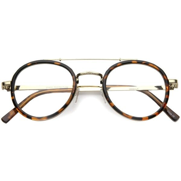 Retro Hipster Indie Dapper Round Clear Lens Aviator Glasses 9922 ($13) ❤ liked on Polyvore featuring accessories, eyewear, eyeglasses, clear lens glasses, aviator eyeglasses, round eyeglasses, hipster eye glasses and aviator eye glasses