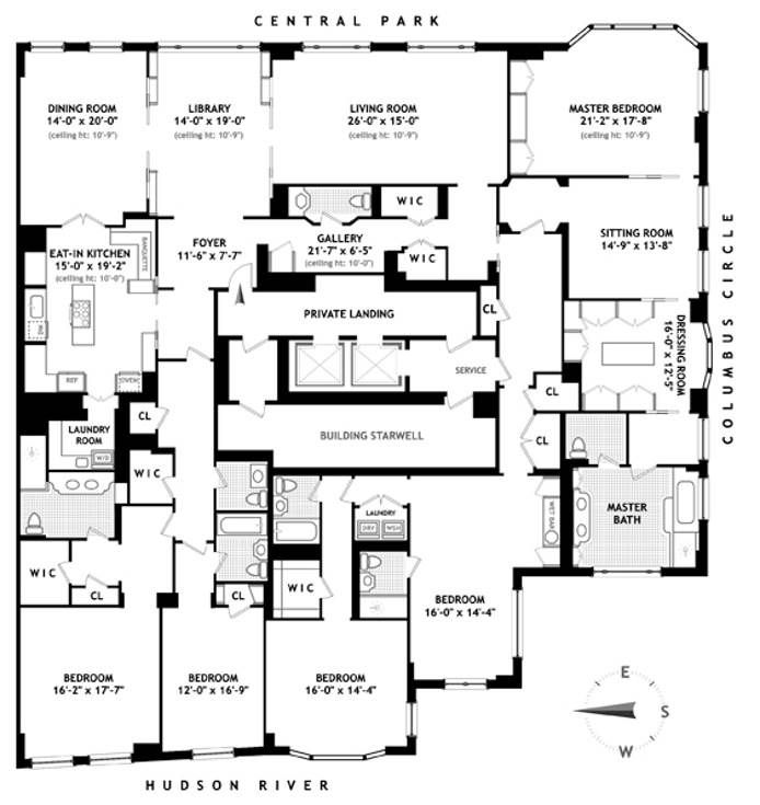 Condominium For Sale At 15 CENTRAL PARK WEST New York, New