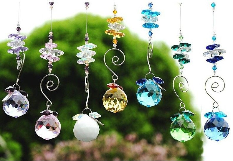 Lots Clear Crystal Chandelier Ceiling Hanging Prism Pendant Home DIY Ornament
