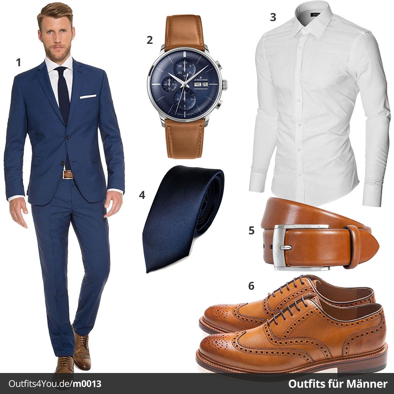 eleganter business style f r herren mit blauem marzotto anzug junghans meister hellbraunen. Black Bedroom Furniture Sets. Home Design Ideas