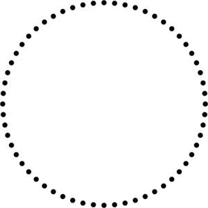 Scatter Plot 2d Which Shows A Dotted Circle And Other 2d Shapes Made By Geometrical Functions With Ipython Numpy And M Circle Outline Circle Circle Borders