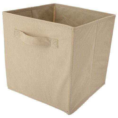 Storage Bin Cube Tan 10 5in X 10 5in X 11in Storage Bins Simple Storage 10 Things