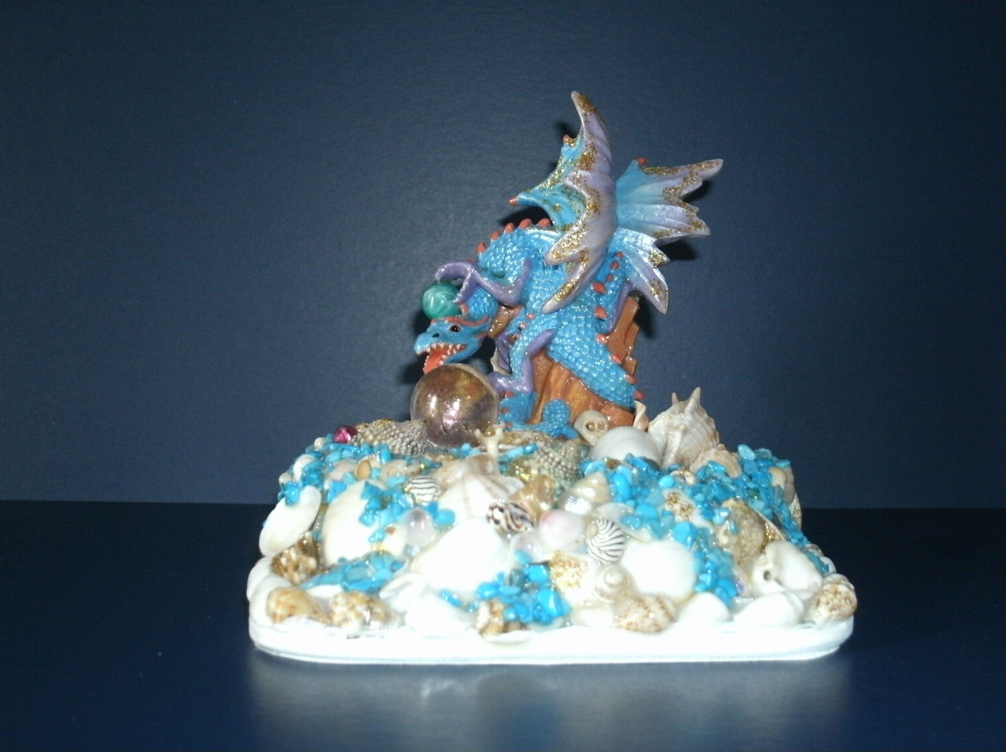 Dragon ornament handmade by Joan Croll